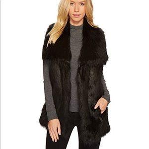 Via Spiga Faux Fur Vest Size M